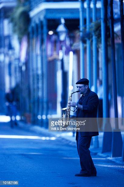 SAXOPHONE PLAYER ON BOURBON STREET