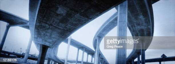 """elevated highway in los angeles, california, usa (infrafed b&w) - """"greg pease"""" stock pictures, royalty-free photos & images"""