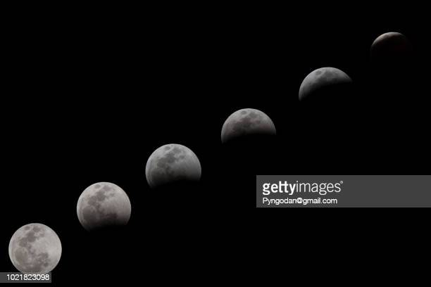 lunar eclipse - lunar eclipse stock pictures, royalty-free photos & images