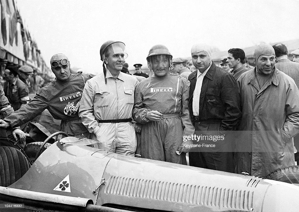 Sanesi;Farina;Bonetto;Fangio;Guidotti : News Photo