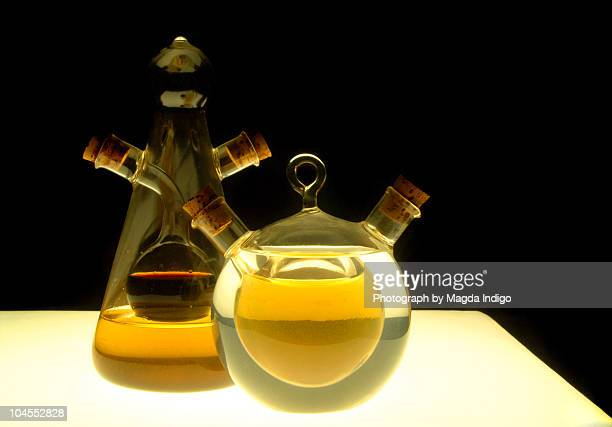 oil and vinegar - cruet stock photos and pictures
