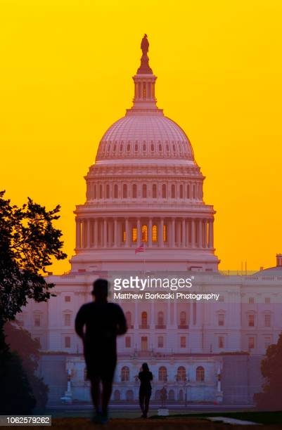 us capital joggers - matthew hale stock pictures, royalty-free photos & images