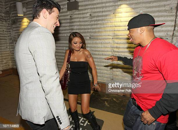 Chasez Tila Tequila and Shane Sparks backstage during the taping of Randy Jackson Presents 'America's Best Dance Crew' in Burbank CA on August 5 2008...