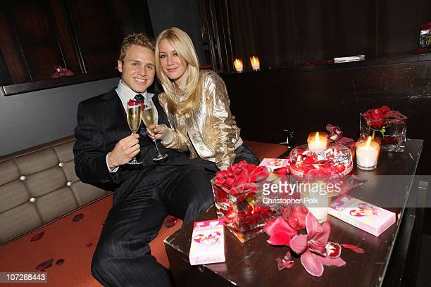 "Spencer Pratt and Heidi Montag at EA's ""Burnout Paradise"" pre-Valentine's Day lounge on February 12, 2008 in Los Angeles, California."