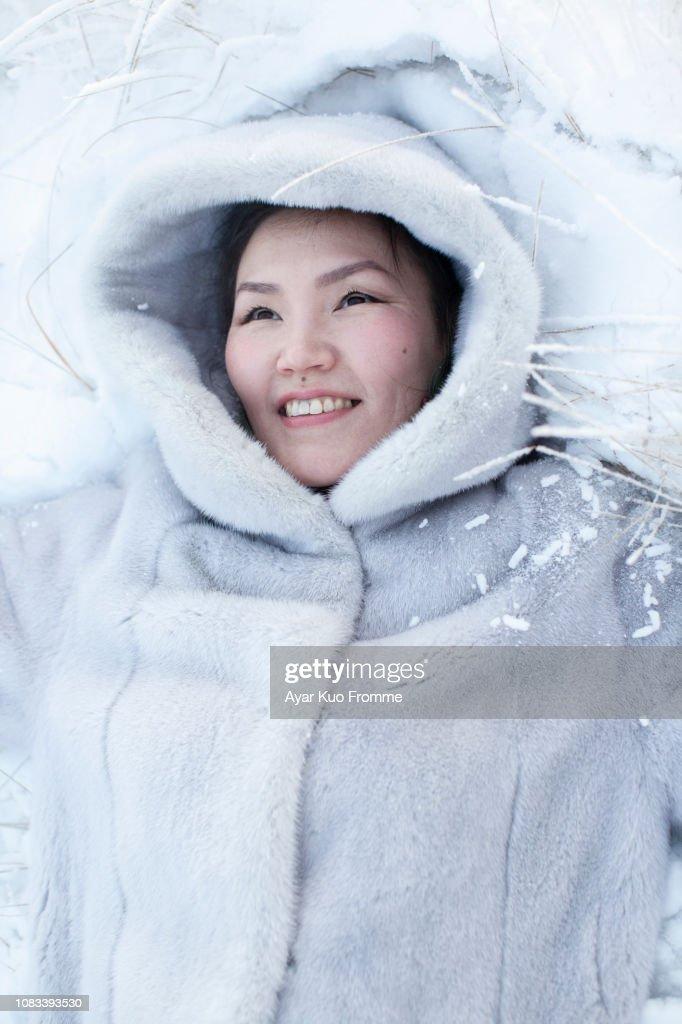 зимний портрет : Stock-Foto