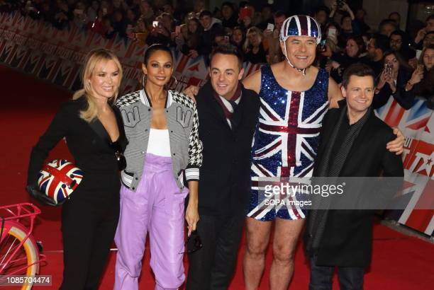 Judges and hosts Amanda Holden Alesha Dixon Anthony McPartlin David Walliams and Declan Donnelly are seen at the London Palladium for the Auditions...