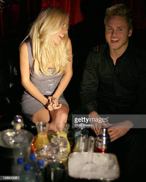 Reality television personalities Heidi Montag and Spencer Pratt attend Christian Audigier The Nightclub at Treasure Island on September 20, 2008 in...