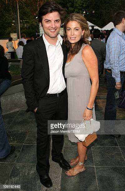 Actor Adam Scott and actress Sonya Walget attend the HBO Summer TCA after party at the W Hotel on July 12, 2007 in Westwood, California.