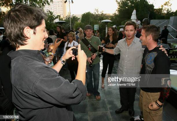 President of HBO Entertainment Carolyn Strauss , actor Kevin Connolly and guest attend the HBO Summer TCA after party at the W Hotel on July 12, 2007...