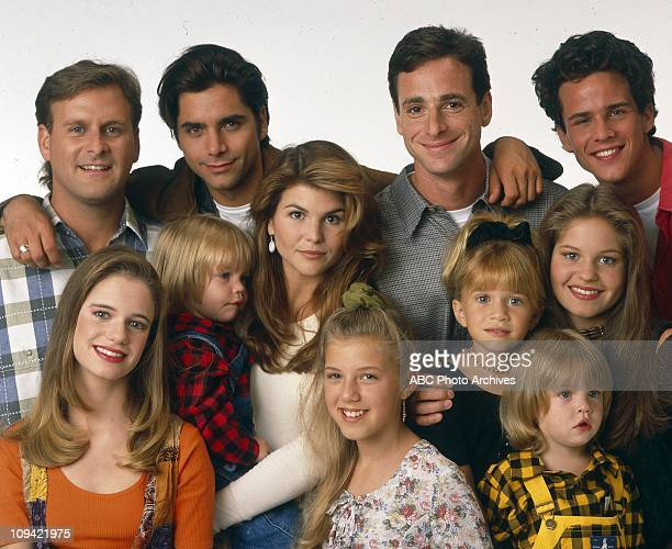 FOREGROUND: ANDREA BARBER;DYLAN/BLAKE TUOMY-WILHOIT;LORI LOUGHLIN;JODIE SWEETIN;MARY-KATE OLSEN;CANDACE CAMERONBACKGROUND: DAVE COULIER;JOHN...