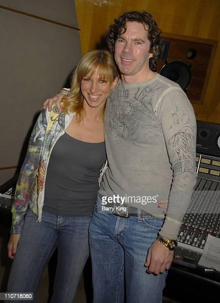Singer Deborah Gibson and Dr. Rutledge Taylor posing in the recording studio on January 28, 2009 in Burbank, California.