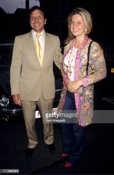 Rocco Forte and wife during Chelsea Flower Show July 5 2000