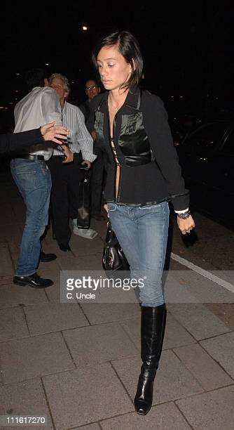 Daniel Craig's Girlfriend Satsuki Mitchell during Celebrity Sightings at Cipriani's October 10 2006