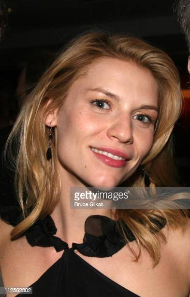 """Actress Claire Danes poses at The Opening Night Party for The Revival of """"Pygmalion"""" on Broadway at The Marriott Marquis Hotel on October 18, 2007 in..."""