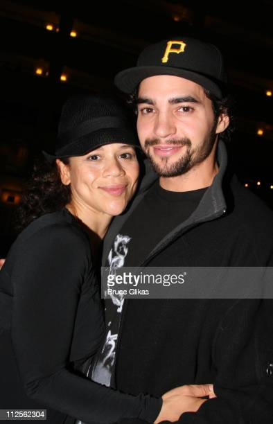 """Rosie Perez and boyfriend Ramon Rodriguez at The Opening Night Party for The Revival of """"Pygmalion"""" on Broadway at The Marriott Marquis Hotel on..."""