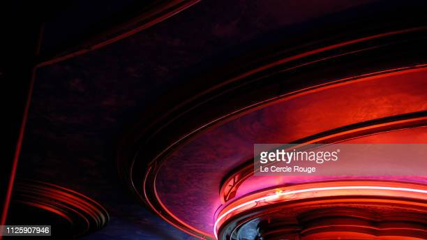 red neon at night - neon stock pictures, royalty-free photos & images