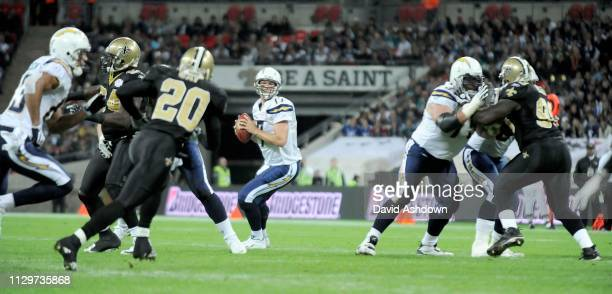 NFL. NEW ORLEANS SAINTS V SAN DIEGO CHARGES AT WEMBLY. . QB PHILIP RIVERS.