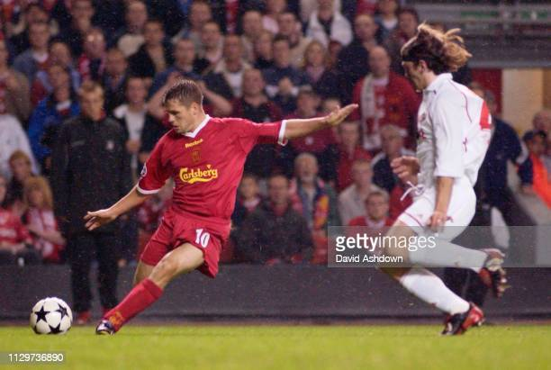 CHAMPIONS LEAGUE LIVERPOOL V FC SPARTAK MOSKVA. MICHAEL OWEN 2/10/2002.