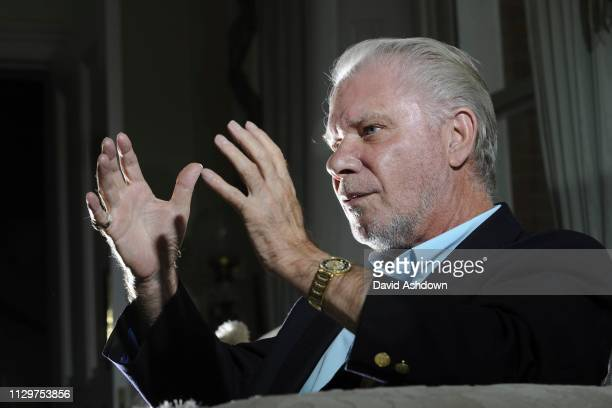DAVID GOLD WEST HAM CHAIRMAN AT HOME 20/9/2011.