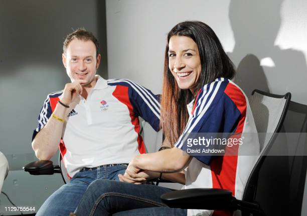 HUSBAND & WIFE KRISTAN BROMLEY & SHELLY RUDMAN WHO ARE COMPETING IN THE SKELETON AT THE WINTER OLYMPICS IN VANCOUVER 29/1/10.