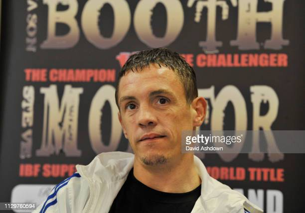 JASON BOOTH WHO FIGHTS STEVE MOLITOR FOR THE IBF WORLD SUPER BANTAMWEIGH TITLE. 2/9/10.