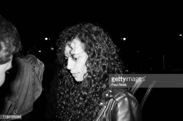 Kirk Hammett of Metallica exits a limo to meet fans at the Capital Centre in Landover, MD on March 9, 1989.