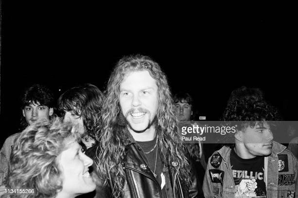 James Hetfield of Metallica smiles while meeting fans at the Capital Centre in Landover, MD on March 9, 1989.