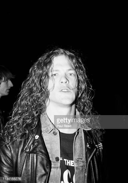 Jason Newsted of Metallica looking menacing while meeting fans at the Capital Centre in Landover MD on March 9 1989