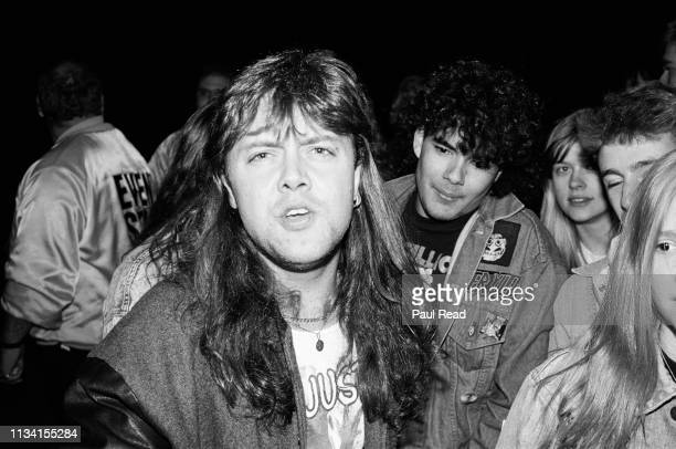 Lars Ulrich of Metallica calls me the Pavoratti while meeting fans at the Capital Centre in Landover MD on March 9 1989