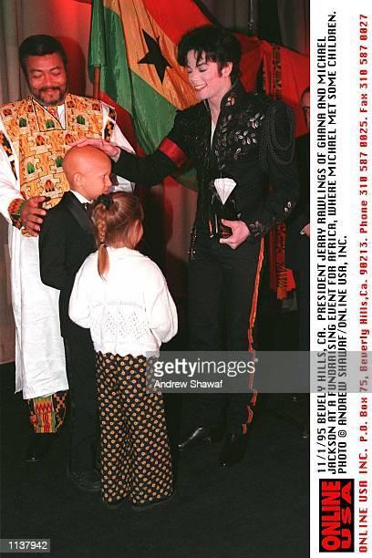 11/1/95 MICHAEL JACKSON AND PRESIDENT JERRY RAWLINGS OF GHANA