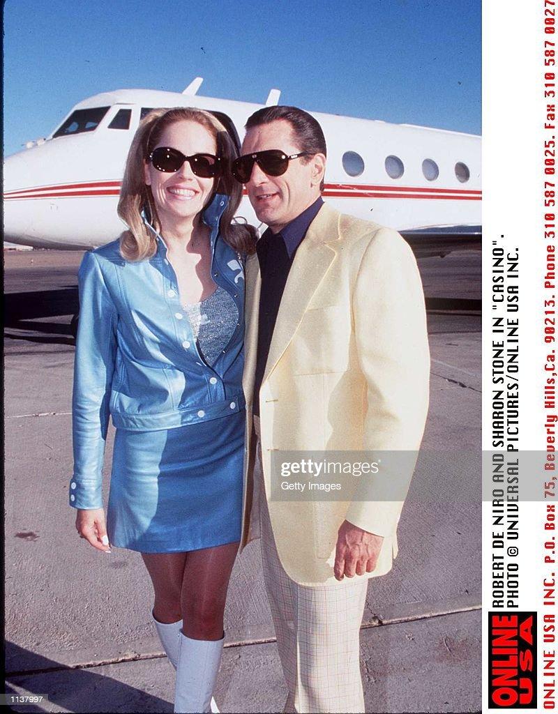 """ROBERT DE NIRO AND SHARON STONE IN """"CASINO"""". : News Photo"""
