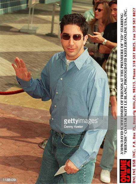 3/10/96 DAVID SCHWIMMER OF 'FRIENDS' AT THE PREMIERE OF 'ED' STARRING 'FRIENDS' COSTAR MATT LE BLANC
