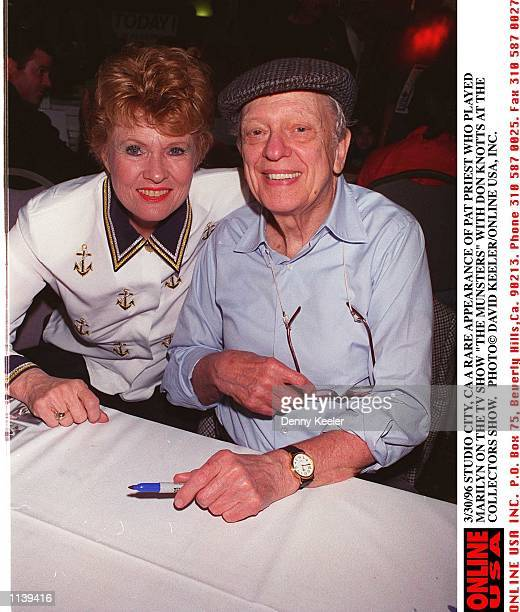 3/30/96 STUDIO CITY CA A RARE APPEARANCE OF PAT PRIEST WHO PLAYED MARILYN ON THE TV SHOW 'THE MUNSTERS' WITH DON KNOTTS AT THE COLLECTORS SHOW