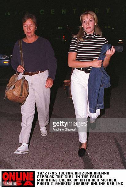 10/27/95TUCSONARIZONABRENNA CEPALAK WITH HER MOTHER AFTER VISITING A CINEMA SHE IS SUSPECTED AS BEING THE REASON NICK FALDO SPLIT WITH HIS WIFE