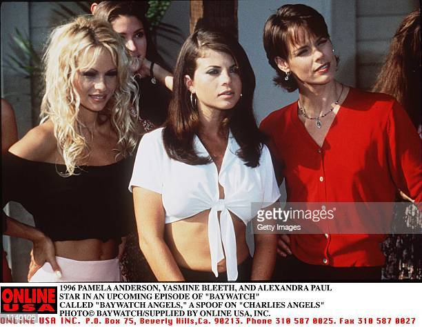 THE STARS OF BAYWATCH STAR IN AN UPCOMING EPISODE OF BAYWATCH CALLED BAYWATCH ANGELS A SPOOF ON CHARLIES ANGELS