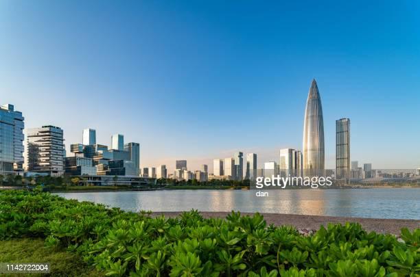 深圳城市建築 - shenzhen stock pictures, royalty-free photos & images