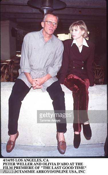 4/14/95 LOS ANGELES CA PETER WELLER AND OLIVIA D''ABO AT THE FILM PREMIERE OF THE LAST GOOD TIME