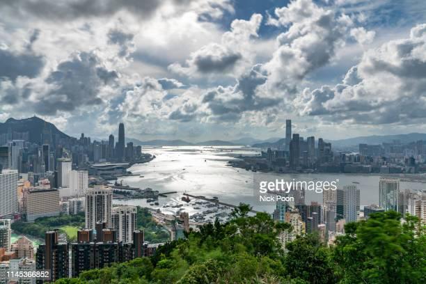 香港城市風景 - kowloon stock pictures, royalty-free photos & images