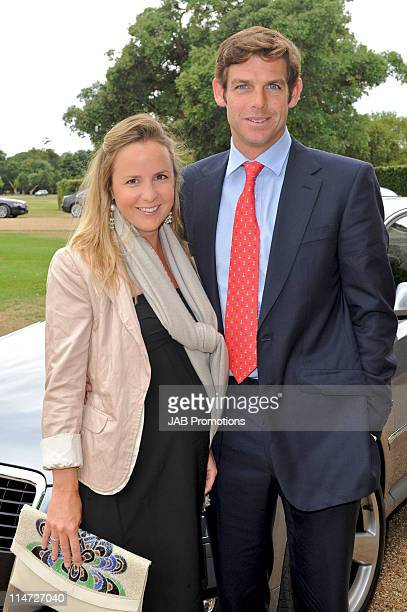 Alix Borwick and Malcolm Borwick attends Audi Lunch at Goodwood House on Ladies Day at the Glorious Goodwood Festival at Goodwood on July 29, 2010 in...