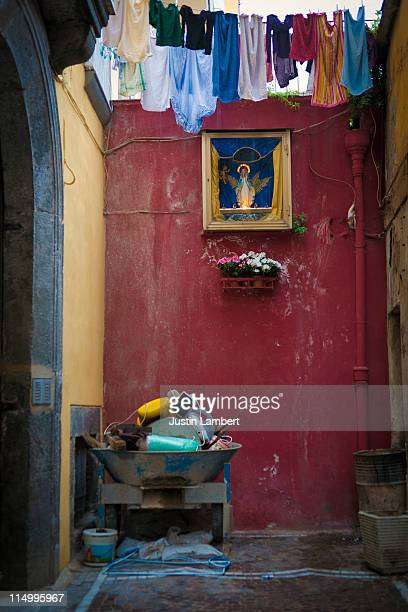 MADONNA SHRINE IN NAPLES SIDE STREET