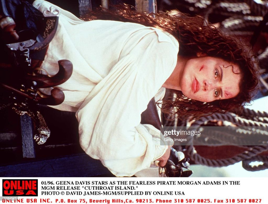 "01/96. GEENA DAVIS STARS AS THE FEARLESS PIRATE MORGAN ADAMS IN THE MGM RELEASE ""CUTTHROAT ISLAND."" : News Photo"