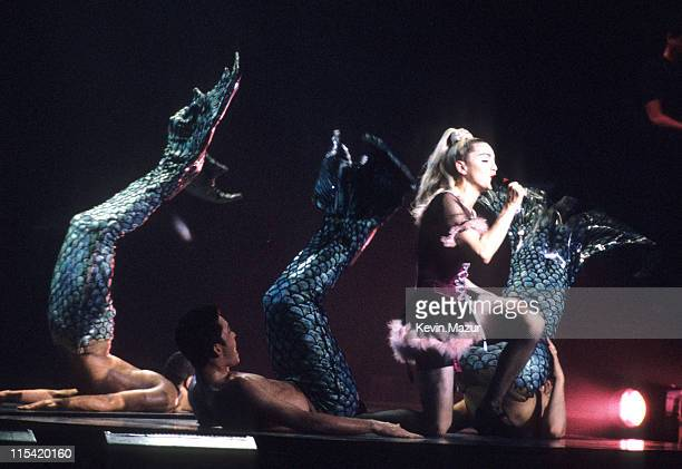 Madonna during Madonna's Blond Ambition World Tour November 6 1990