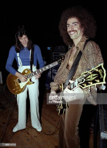 Steve Perry and Neal Schon perform with Journey at a TV show taping at the Japan Center Theater in San Francisco January 7 1978