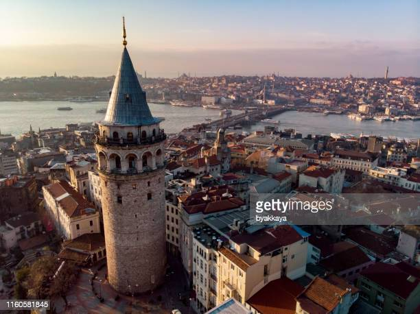 galata tower - istanbul stock pictures, royalty-free photos & images