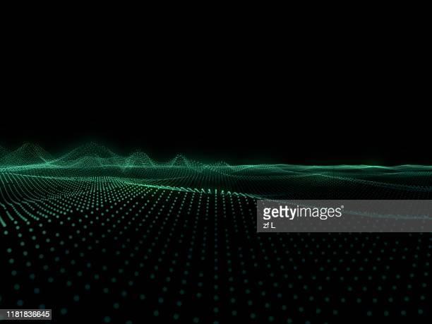 科技線條粒子素材背景 - zweidimensionale form stock-fotos und bilder