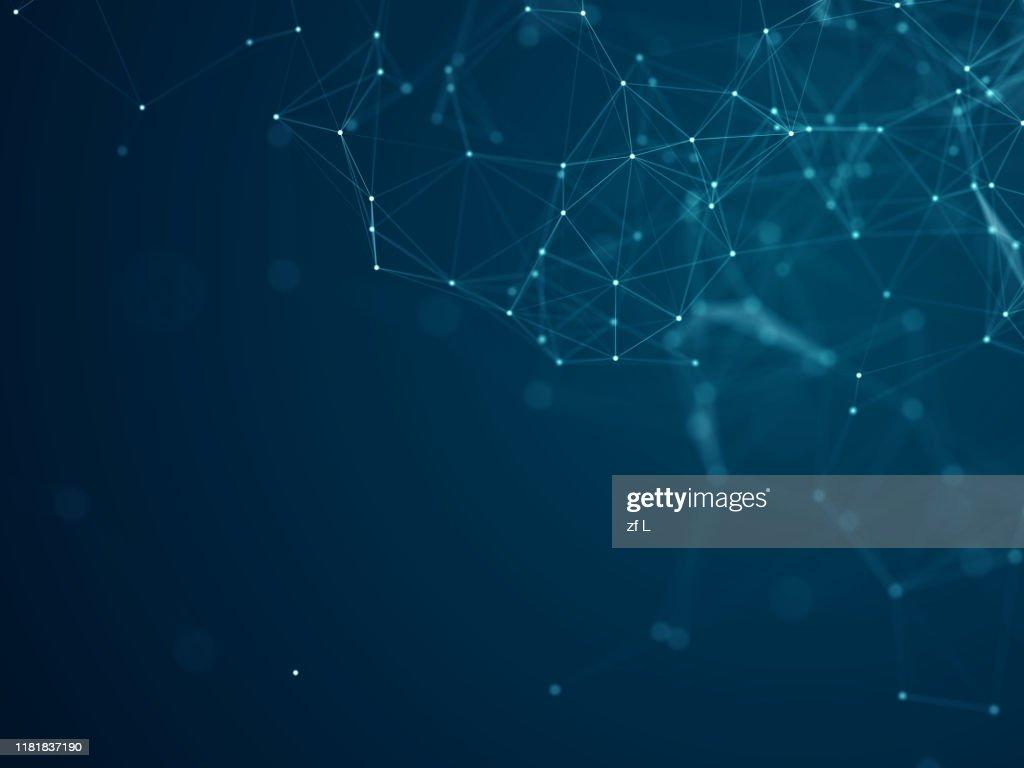 科技線條粒子素材背景 : Foto stock