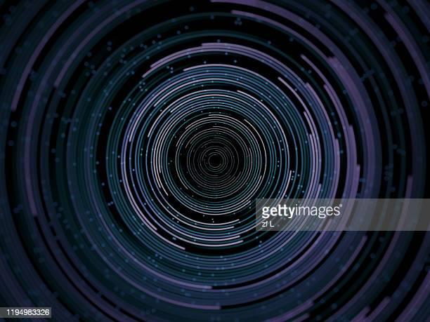 流動的粒子線條 - atomic imagery fotografías e imágenes de stock