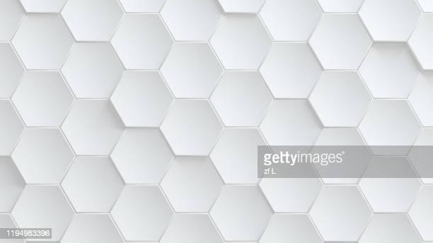 潔白的蜂巢狀背景 - honeycomb stock pictures, royalty-free photos & images
