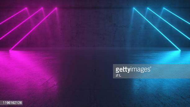 霓虹色的空間 - fluorescerende stockfoto's en -beelden
