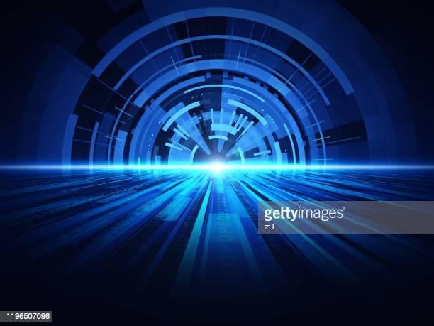 藍色科技空間 - time stock pictures, royalty-free photos & images
